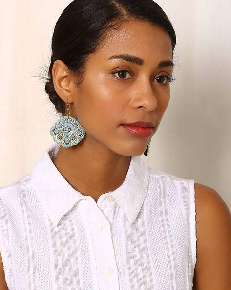 Beaded Dangler Earrings By Indie Picks ( Multi ) - 460042556001