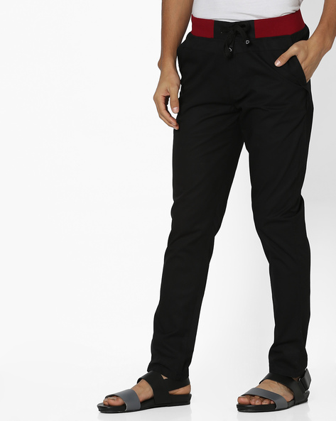 Lounge Pants With Elasticated Waist By Sweet Dreams ( Black )