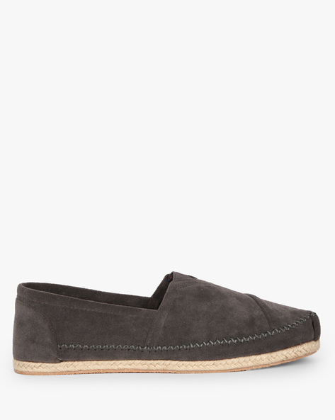 Espadrilles With Elasticated Gussets By AJIO ( Grey )