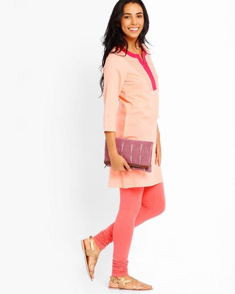 Ikat Foldover Clutch By AJIO ( Pink )