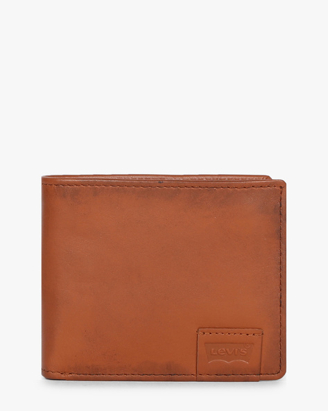 Textured Bi-Fold Leather Wallet By LEVIS ( Brown )