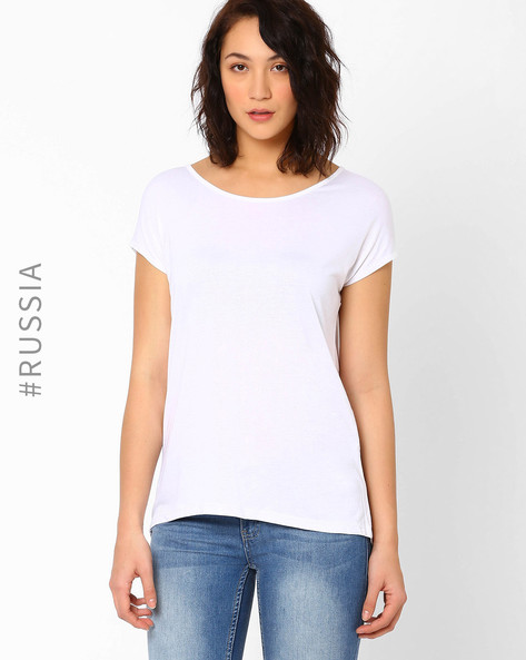 Top With Cut-Out By Kira Plastinina ( White )