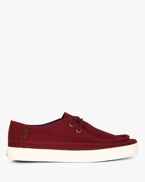 Rata Vulc SF Lace-Up Casual Shoes By Vans ( Red )