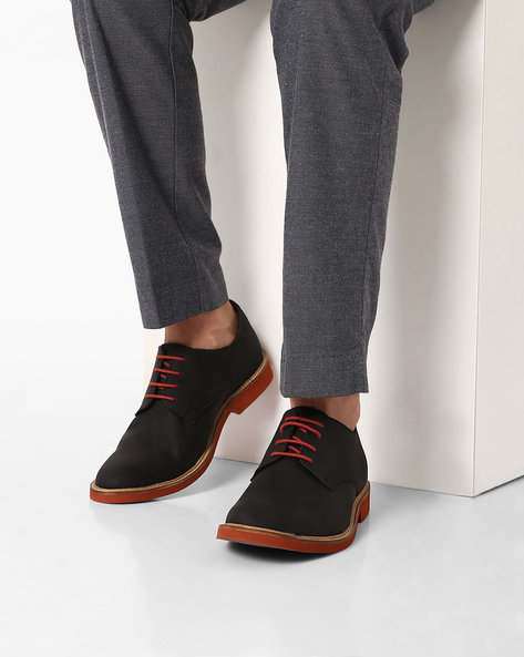 Lace-Up Casual Shoes By AJIO ( Black )