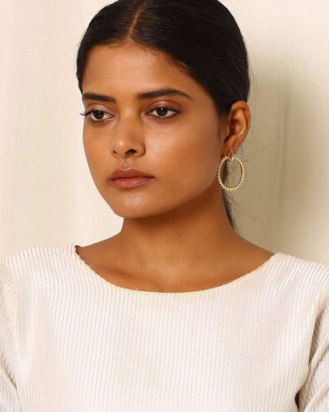 Gold-Plated Brass Drop-Earrings By Indie Picks ( Multi ) - 460045146001