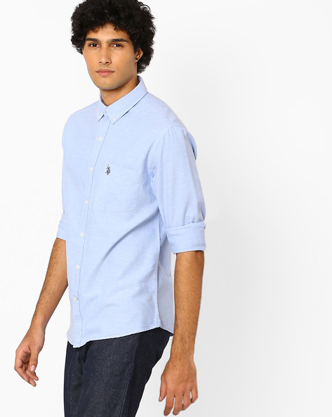 Regular Fit Shirt With Patch Pocket By US POLO ( Assorted )