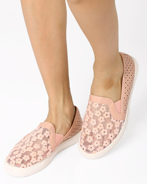 Casual Shoes With Side Cutouts By AJIO ( Pink )