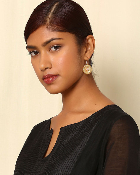 Gold-Plated Brass Drop-Earrings By Indie Picks ( Multi ) - 460045169001