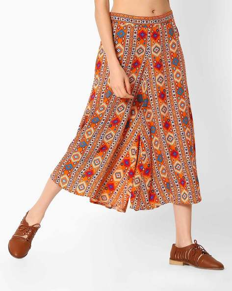 Printed Culottes With Tie-Up By COLOUR ME ( Brown )