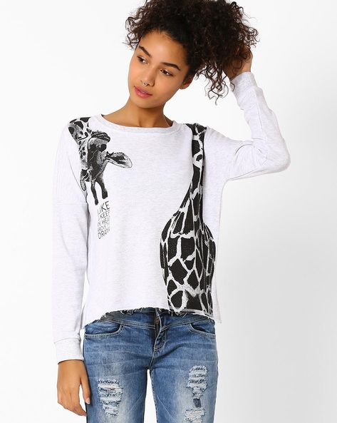 Graphic Print T-shirt By Vero Moda ( White )
