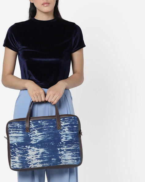 Printed Laptop Bag With Sling By Project Eve ( Multi )