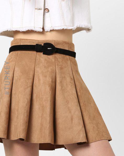 Skinny Belt With Adjustable Buckle Closure By TRENDYOL ( Black )