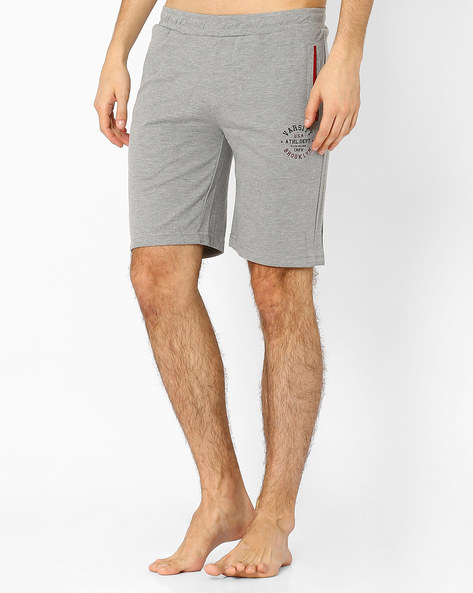 Cotton Shorts With Elasticated Waistband By HANES ( Charcoal )