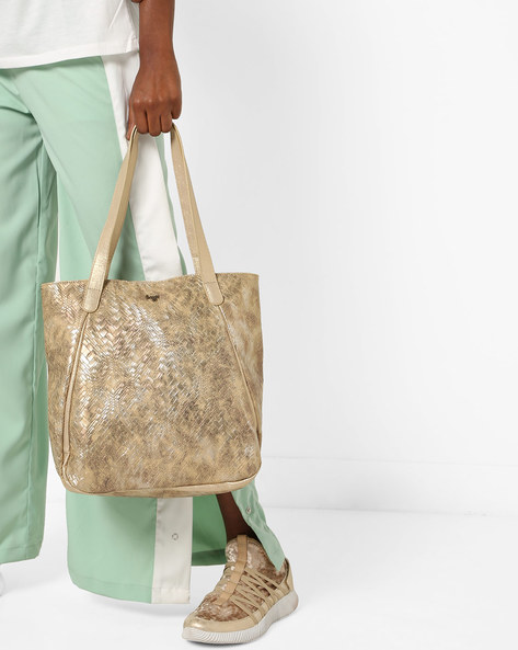 Tote Bag With Double Handles By BAGGIT ( Gold )