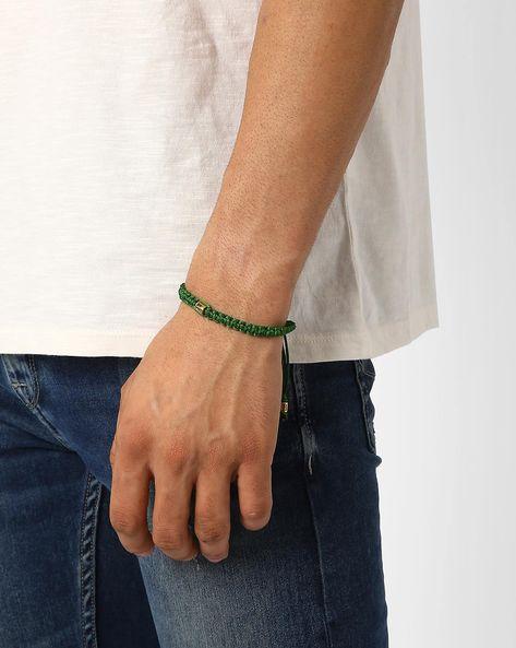 Woven Polyester Bracelet By Alto Vida ( Green )