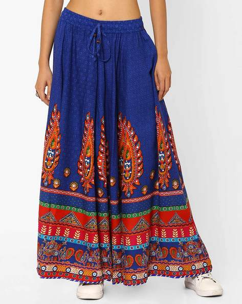 Printed Maxi Skirt By Akkriti By Pantaloons ( Blue )