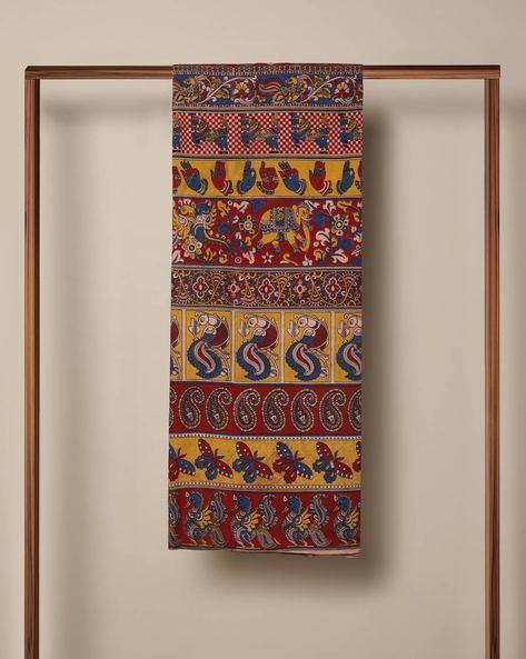 Printed Cotton Kalamkari Kurta Fabric By Indie Picks ( Multi )