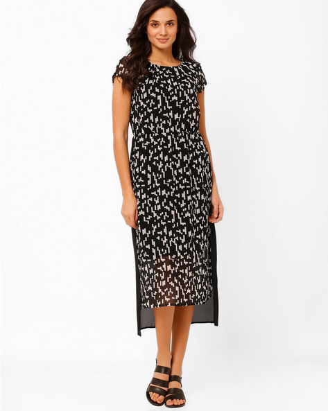 High-Low Midi Dress By The Vanca ( Black )
