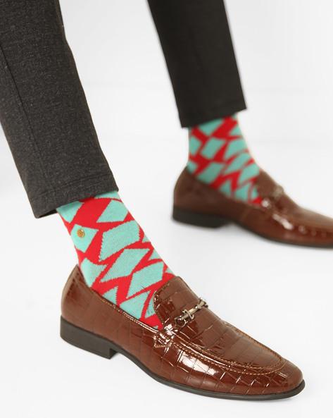 Slip-On N9-Treated Formal Shoes By AJIO ( Brown )