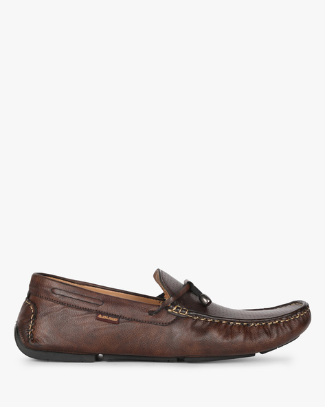 Textured Boat Shoes By DUKE ( Brown )