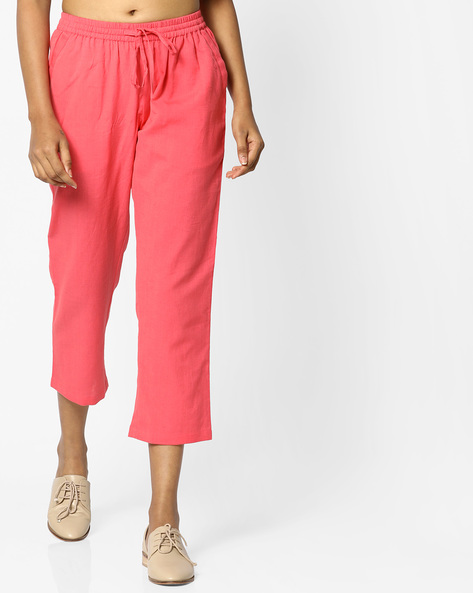 Pants With Drawstring Waist By PE IW Casual ( Peach )