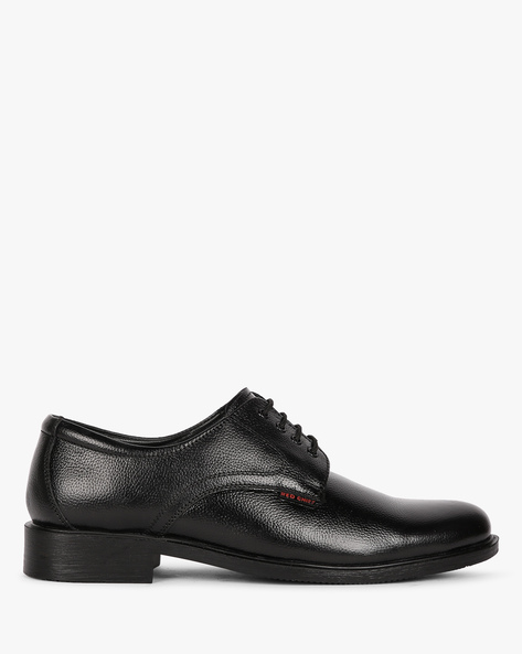 Textured Leather Derby Shoes By RED CHIEF ( Black ) - 460191186003