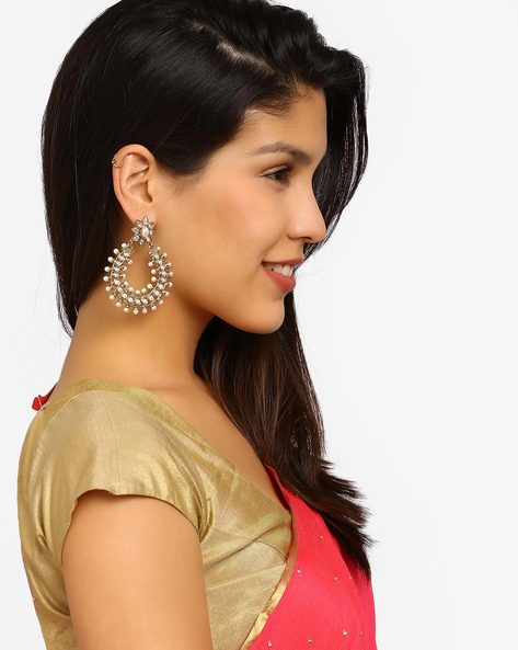 Gold-Plated Chandbali Earrings By Fida ( Gold )