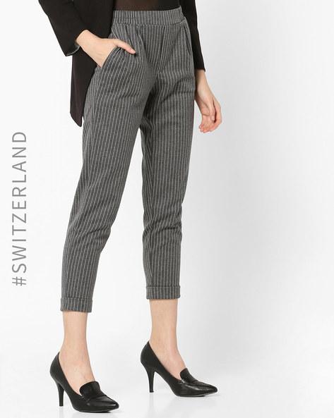 Striped Skinny Trousers By TALLY WEiJL ( Grey )
