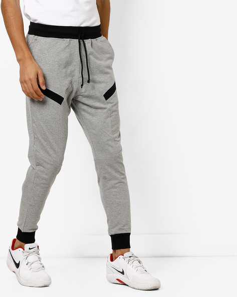 Colourblock Panelled Joggers By DEEZENO ( Grey ) - 460173092001