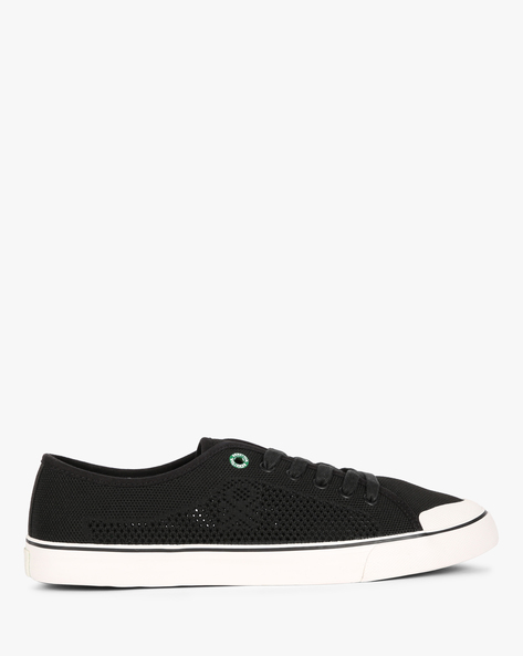 Knitted Low-Top Sneakers By UNITED COLORS OF BENETTON ( Black )