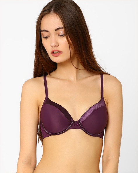 Padded Bra By Amante ( Purple )