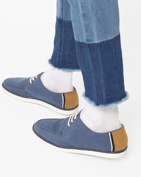 Low-Top N9-Treated Casual Shoes By AJIO ( Navy )