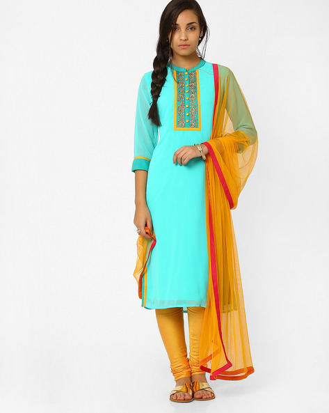 Dupatta With Contrast Taping By AJIO ( Yellow )