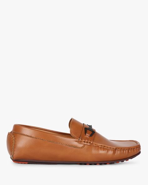 Low-Top Slip-On Loafers By AJIO ( Tan )