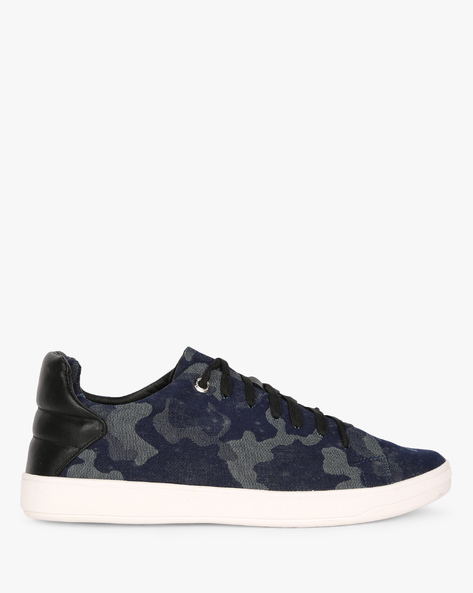 Camouflage Print Lace-Up Shoes By AJIO ( Black )