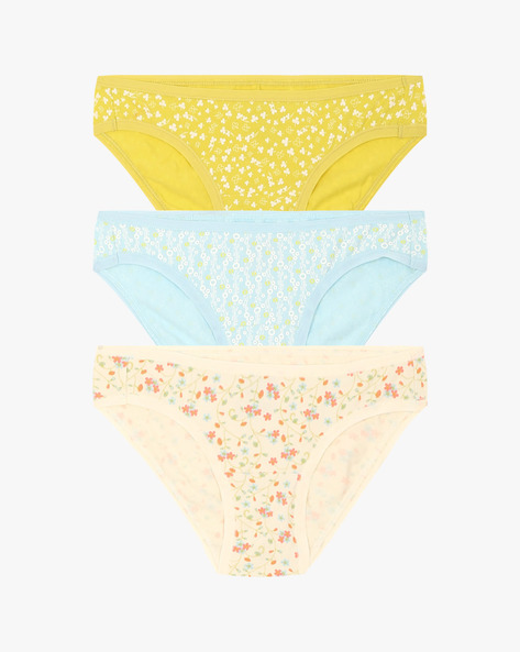 Pack Of 3 Printed Hipster Panties By Amante ( Assorted )