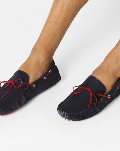 N9-Treated Boat Shoes With Moc-Stitched Upper By AJIO ( Navy )