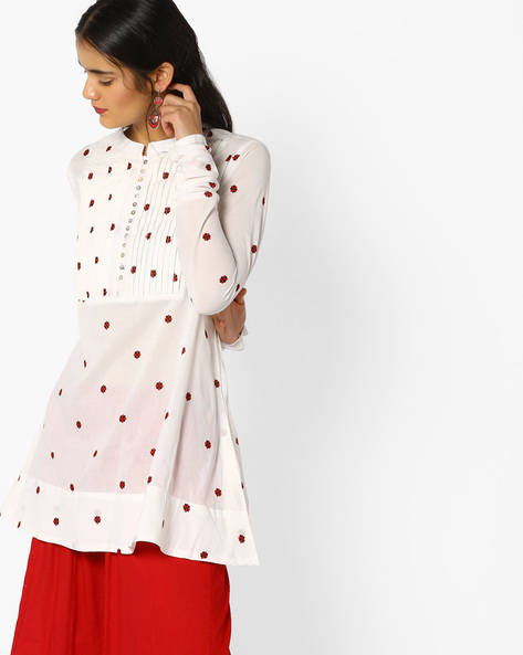 Printed Tunic With Pintucks By Arah ( White )