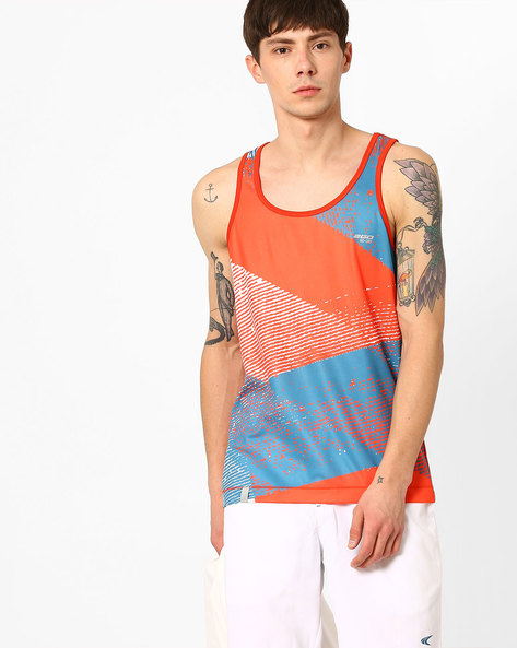 GO DRY Sleeveless T-shirt By 2Go ( Orange )