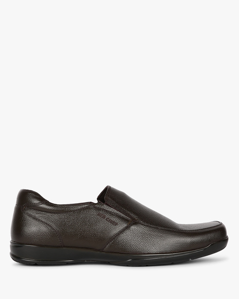 Textured Leather Slip-On Shoes By RED CHIEF ( Brown )