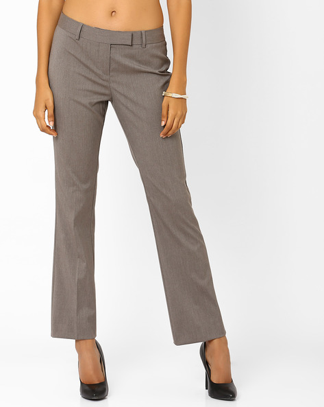 Ankle-Length Trousers By Annabelle By Pantaloons ( Beige )