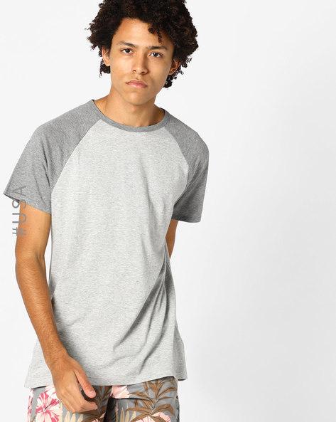 Heathered Crew-Neck T-shirt With Raglan Sleeves By Aeropostale ( Grey )