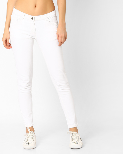 Skinny Fit Jeans By Fame Forever By Lifestyle ( White )