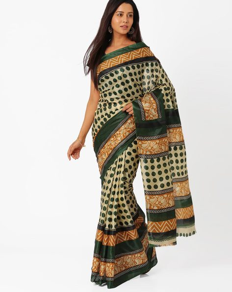 Printed Silk Saree By Majestic Silk ( Steel )