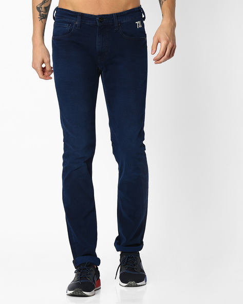 5-Pocket Slim Jeans By Pepe Jeans ( Indigo )