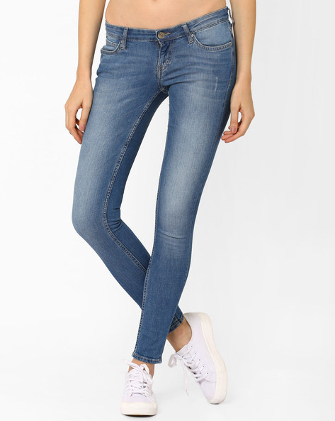 Lightly Washed Jeans By Lee ( Lightblue )