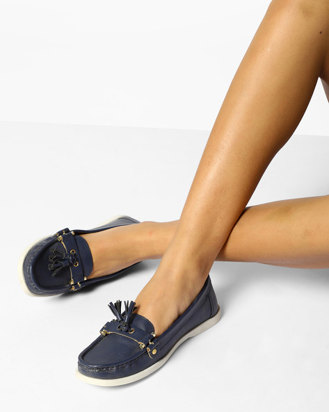Moccasins With Tassels By Carlton London ( Navy )