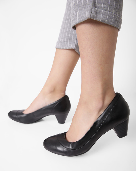 Denny Harbour Leather Heels By CLARKS ( Black )