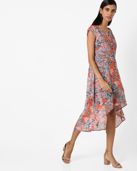 All-Over Print High-Low Dress By AYAANY ( Multi )