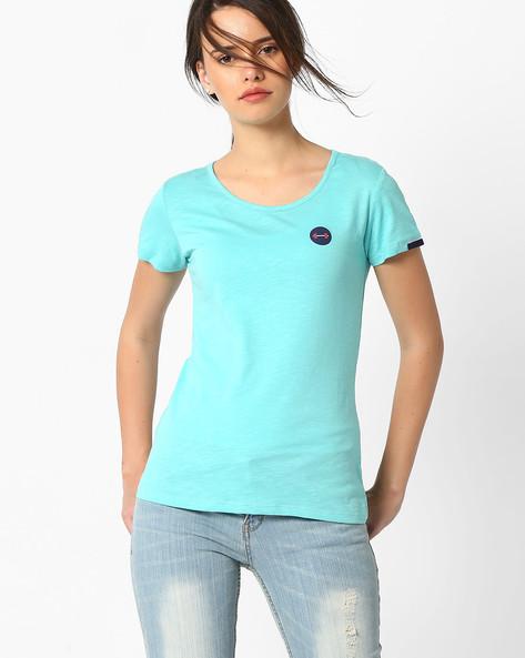 Cotton Crew-Neck T-shirt By TEAM SPIRIT ( Ltaqua )